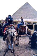 Riding Camels at the Pyramids of Egypt