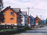 Colorful Houses in Fiksdal Norway
