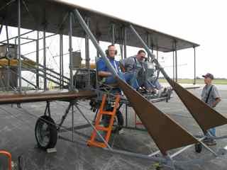 Mark flying on 1911 Wright B Flyer Look Alike