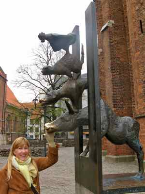 A touch for luck in Riga, Latvia