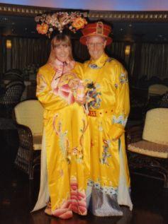 Chinese costumes on Yangtze River Cruise