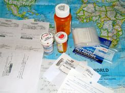 Pack enough medications to last a week or so beyond your expected return home