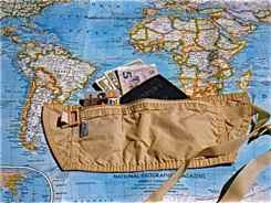 Wear a money belt for travel safety