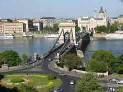 Chain Bridge - Pest is Budapest on the Danube's East Bank