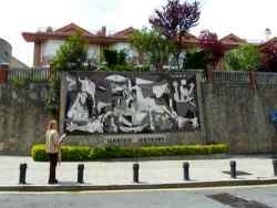 Copy of Picasso's painting in Gernika