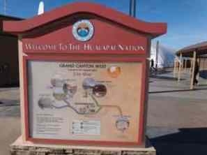 Hualapai direction sign at Grand Canyon Skywalk