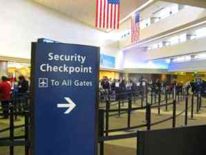 Airport security lines can be long...