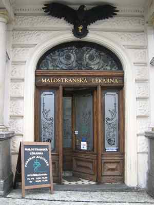 Finding a pharmacy in a foreign language even Czech
