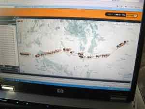 GPS Satellite Tracker map
