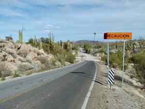 Mexican Highway 1 at Cataviña