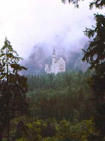Neuschwanstein seems to float on its hill