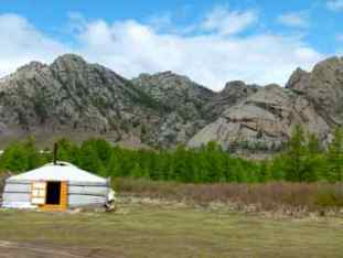 Ger (or Yurt) In Mongolia