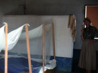 In Dogon Country in Mali we used mosquito nets