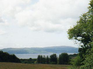Castle McEwen site from Kilfinan Hotel