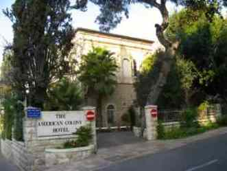Jerusalem hotel had taxis stay on the street