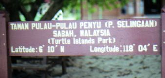 Turtle Islands Borneo park sign