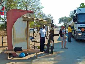 Swaziland border crossing - Ask before you take pictures