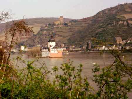 Pfalz Castle on the Rhine River