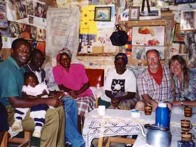 Tea with our guide's family in Kenya