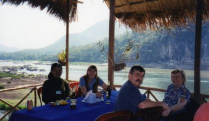 Celebrating our custom tour on the Mekong in Laos