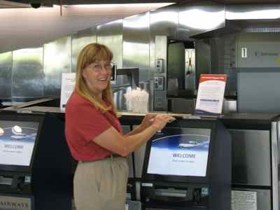 Kiosks at airport most often may be for check in, but Global Entry members may use special kiosks in Customs for fast entry into the USA.