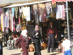 Arab ladies shop in the Souks of Jerusalem
