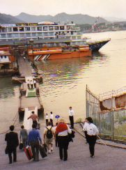 Boarding Yangtze River Boat at Yichang