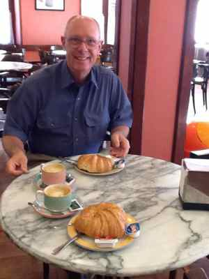 Avoid hotel fees - have breakfast at a local cafe