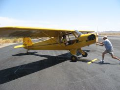 GPS Satellite Tracket gets Piper J-3 Cub to Oshkosh
