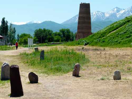 Burana Tower and bal-bal stones