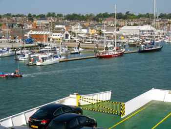 Ferry arriving at East Cowes Isle of Wight