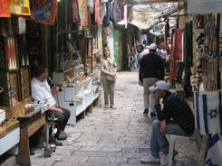David Street Jerusalem - a tourist bazaar!