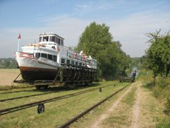 Elblag Canal Boat on rails