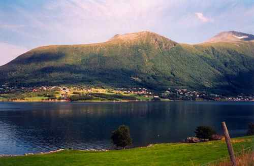 Town of Fiksdal across the Molde Fjord
