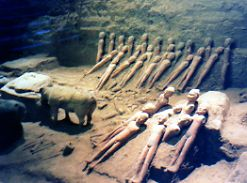 Finding diminutive soldiers HanYangLing Museum