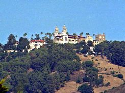 Hearst Castle above San Simeon California