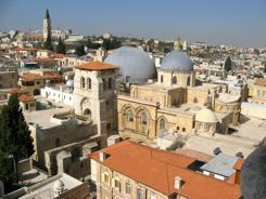 Church of the Holy Sepulcher - Domes seen from nearby tower