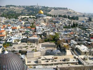 Jerusalem from bell tower near Church of the Holy Sepulchre
