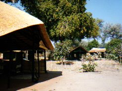 Kakuli Bush Camp Dining area and tents - Zambia