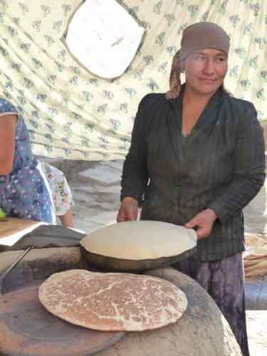 Bread maker, Khiva, Uzbekistan