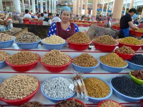 Bazaar in Khujand, Tajikistan