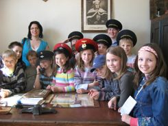 Independent travel lets us interact with Lithuanian school children