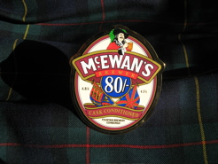 McEwan's beer pull and MacEwan tartan