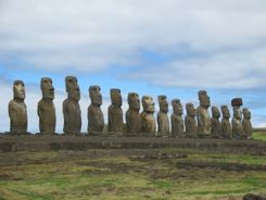 Moai resorted to their Ahu  (their platform) on Rapa Nui  (Easter Island)