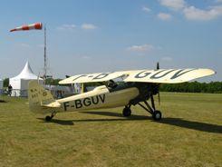 A Morane-Saulnier plane at La Ferte Alais Air Show, France