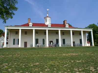 Mount Vernon Main House Back Portico