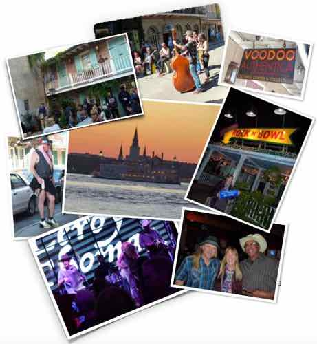 New Orleans music and night ligt collage