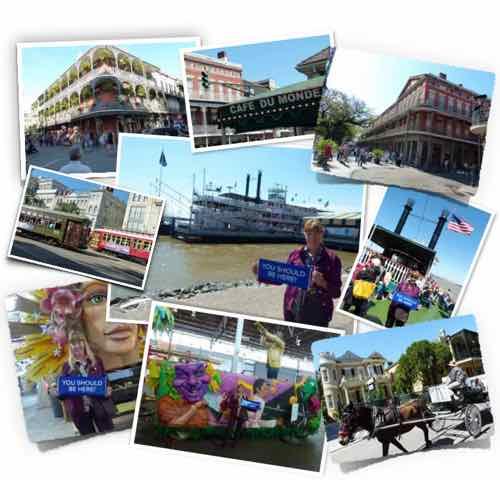 Sights around New Orleans collage