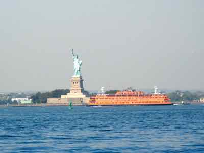 Statue of Liberty with Staten Island Ferry