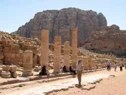Roman Ruins in Nabatean Petra - Jordan